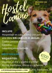 Hospedaje Canino .130mts, Patio C Sol.paseos, Comida, Baños.