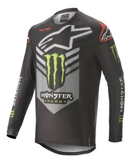 Jersey Motocross Enduro Alpinestars Ammo Monster Gris