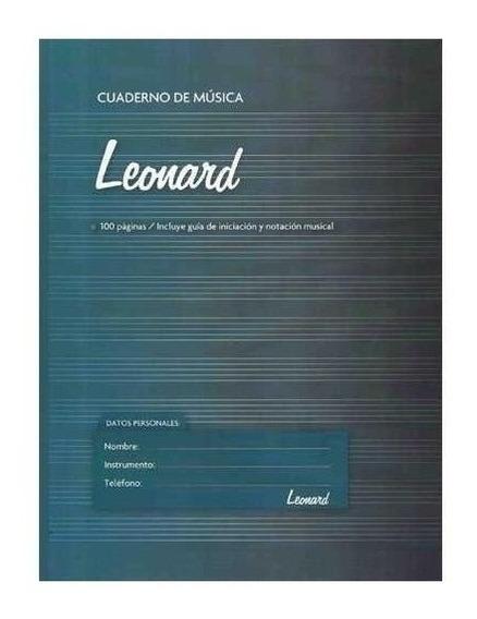 Cuaderno Pentagramado Espiralado 50 Hojas Leonard Lnd-50