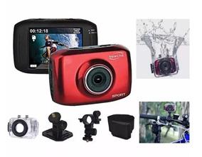 Filmadora Sport Lcd Touch 2,7 , Hd, Foto 5mp À Prova D