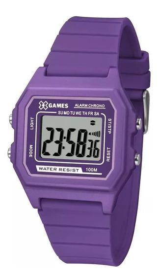 Relógio Feminino X-games Digital Roxo Xlppd030 Bxux