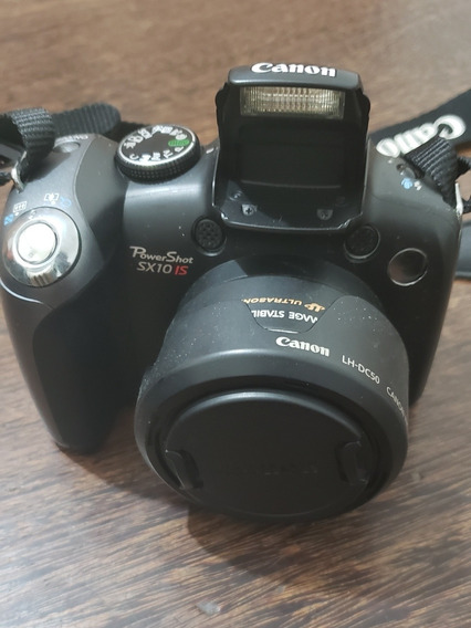 Câmera Canon Powershot Sx10 Is + Cartão Sd Hc + Cabo + Caixa