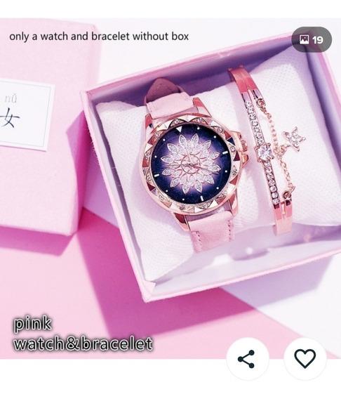 Relógio E Bracelete Jóias De Luxo