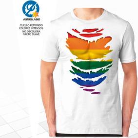 Playera Blanca Lgbt Gay Arcoíris Cuerpo Pride Marcha