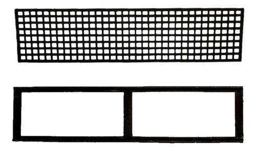 Imagem 1 de 1 de Grelha Quadriculada E Caixilho De Ferro Fundido 30x100cm