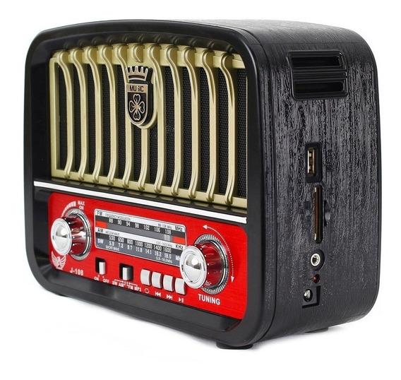 Radio Vintage Antigo Retro J108 Altomex Fm Am Pen Drive Usb