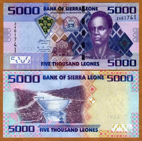 Serra Leoa 5000 Leones 2013 P. 32 Fe Cédula - Tchequito