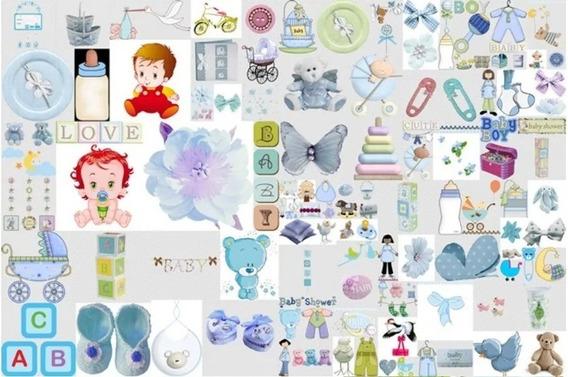 Kit Imprimible Baby Shower Niño Fiesta