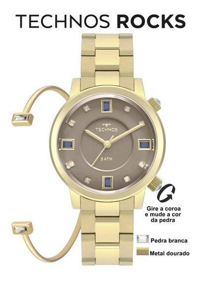 Relógio Technos Dourado 2039bu/k4c - 12x Sem Juros -frete G.