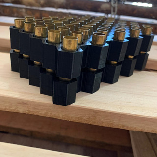 Bandeja Recarga Munição Favo Ergonômica 50 Cápsulas 9mm 380