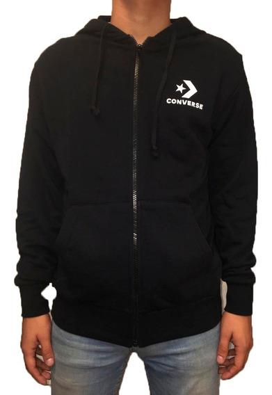 Converse Campera C/capucha Lifestyle Star Chevron Negro Fkr