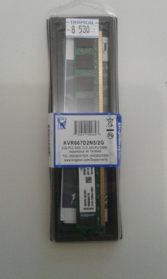 Memória Kingston Ddr2 - 2 Gb Kvr667d2n5