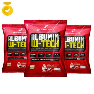Suplementos Alimentares - 3x Albumina 500g - Bodyaction