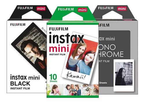 Imagen 1 de 6 de Película Instax Mini 3 Pack Clásicos (30 Fotos)