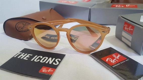 Óculos Ray Ban Round Stylish - Rb2180 Rosa Espelhado