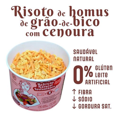 Imagem 1 de 9 de Risoto De Homus Grão De Bico E Cenoura Sem Glúten Sem Leite