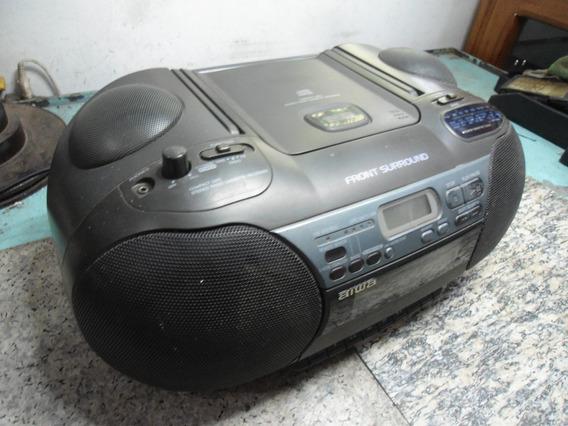 Rádio Cd Toca Fitas Aiwa Csd-es60lh - No Estado