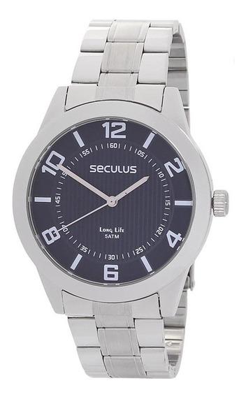 Relógio Seculus 5atm Masculino E Canivete 11 Funções 23808