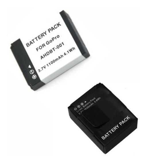 1 Ahdbt-001 + 1 Bateria Ahbt-301/201 Para Gopro C N/f