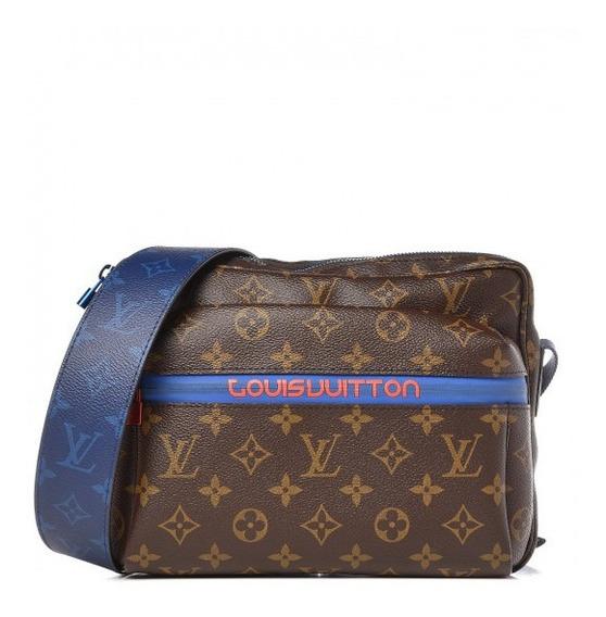 Outdoor Messenger Monogram Couro Legítimo Premium Top Louis Vuitton C/ Código Série Acompanha Dust Bag Envio Imediato