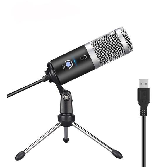Microfone Condensador Usb Para Gravação E Comunicação Live