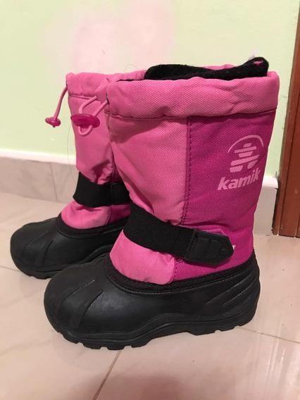 Botas Zapatos Para Niñas Térmicas Nieve Y Lluvia Talla 30