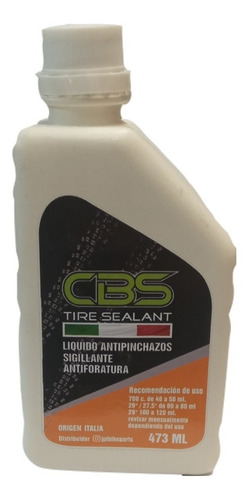 Imagen 1 de 3 de Liquido Cbs Sellador Tubeless 473ml 4 Medidas De Rodado 29