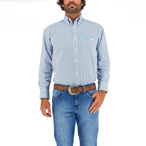 Imagen 1 de 6 de Camisa Vaquera Wrangler Hombre Manga Larga 727