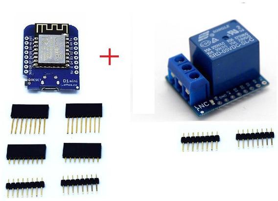 Kit Relé + Módulo Esp8266 D1 Mini - Wifi