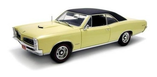 1966 Pontiac Gto Hard Top Amarelo - Escala 1:18 - Highway61