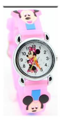 Relógio Mickey E Minie 3d Infantil