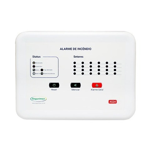 Central De Alarme 24 Setores 12v Com Bateria Segurimax