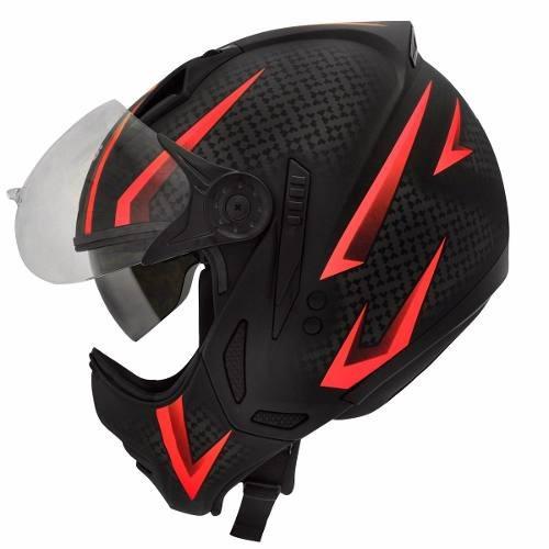 Capacete Moto Peels Mirage Storm Com Óculos Interno Vermelho