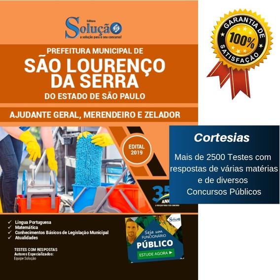Apostila São Lourenço Da Serra Sp 2019 Merendeira E Zelador