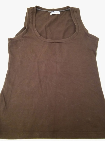 Musculosa Color Chocolate Talle S