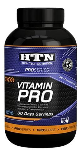Imagen 1 de 2 de Vitamin Pro 60 Caps Vitaminas Minerales Y Ginseng Htn