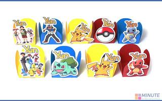 Forminhas Docinhos Pokemon - 40 Unidades - Frete Grátis