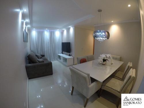 Apartamento Para A Venda No Bairro Vila Homero Thon Em Santo André - Sp . - Ap01433 - 69457154