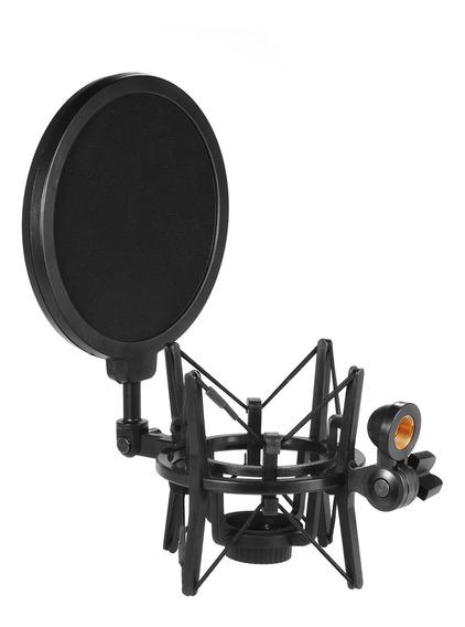 Condensador De Plástico Univerdal Microfone Mic Shock Mount