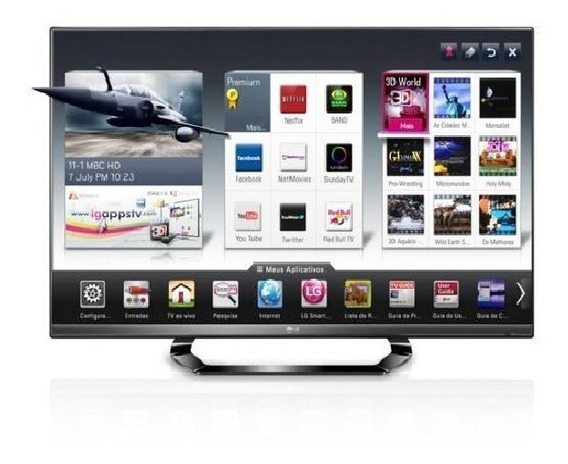 Smart Tv LG 42 Lm6400 (defeito)