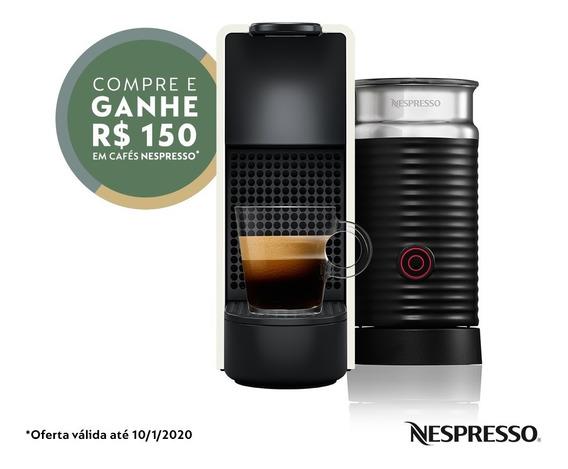 Nespresso Essenza Mini Combo Branca 220v + Aeroccino 3