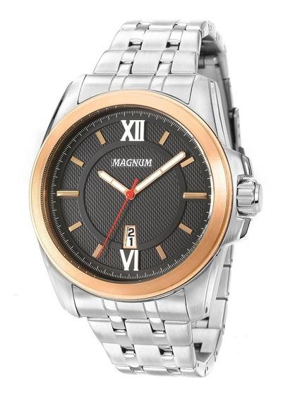 Relógio Magnum Masculino Original Aço Inox Dourado Ma34254p