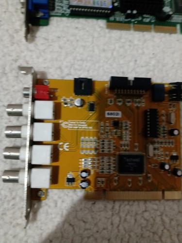 Imagem 1 de 9 de  09 Placa De Vídeo E Áudio E Internet Usado  Várias Marc