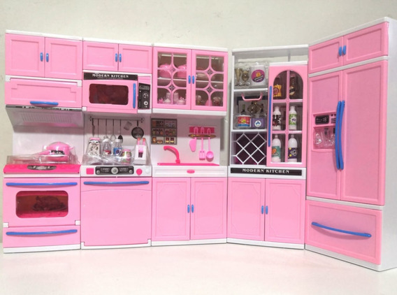 Kit Cozinha Infantil P Bonecas 5x1 Completa Kitchen