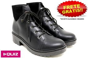 69a25faad13 Bota Quiz Salto Tratorado - Sapatos no Mercado Livre Brasil