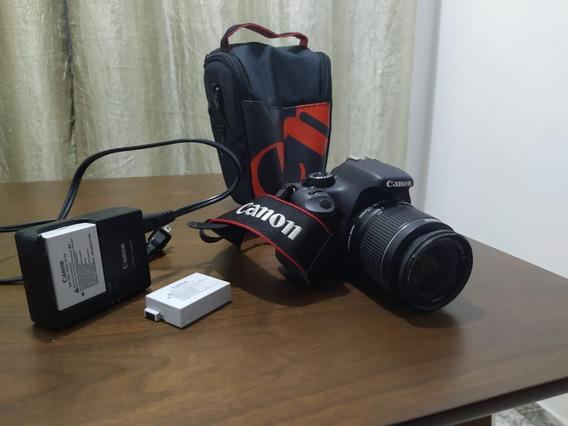 Canon 550d + Lente + Cartão De Memória + Bolsa