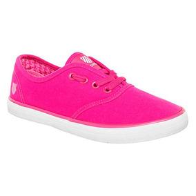 Dtt Tenis Sneaker Kswiss Beverly Dama Textil Fucsia K96818