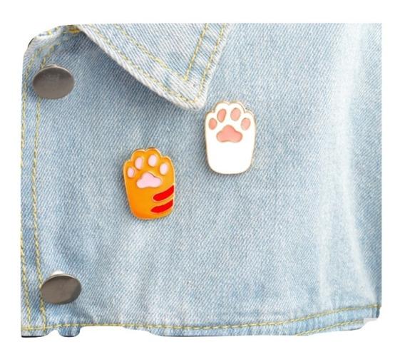 Gato Broche Prendedor Huellitas Cat Gatito Dije Joyeria