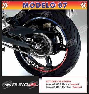 Adesivo Friso Refletivo Bmw G310r G 310r + Adesivos Int M07