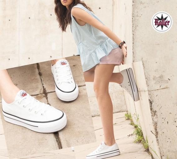Zapatillas De Lona Plataforma Moda !! Talle 35/40